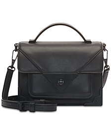 DKNY Jaxone Mastrotto Leather Top Handle Flap Crossbody, Created for Macy's