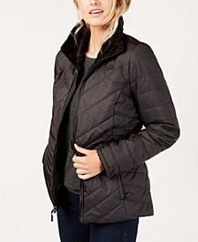 Women's Mossbud Fleece-Lined Reversible Jacket