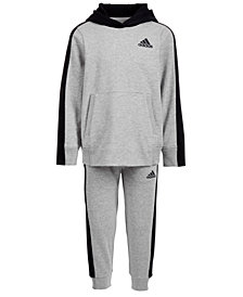adidas Little Boys Altitude Heathered Hoodie	 & Jogger Pants
