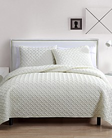 Nina 3-Piece Full/Queen Embossed Quilt Set