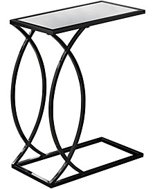 Black Nickel With Mirror Top Edgeside Accent Table