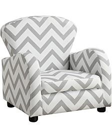 Juvenile Chair - Grey Chevron Fabric