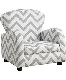 Monarch Specialties Juvenile Chair - Grey Chevron Fabric