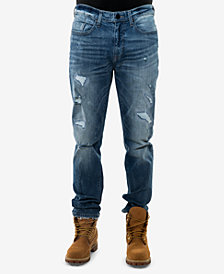 Sean John Men's Slim-Fit Ripped Jeans