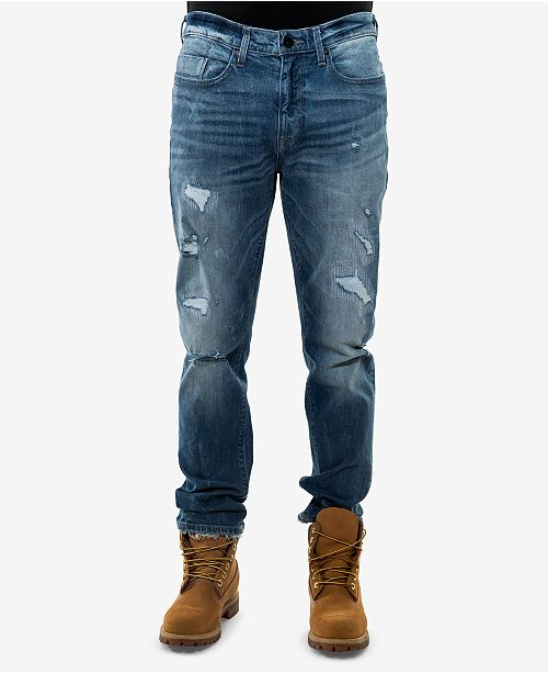 33710e336c1 Sean John Men s Slim-Fit Ripped Jeans   Reviews - Jeans - Men ...