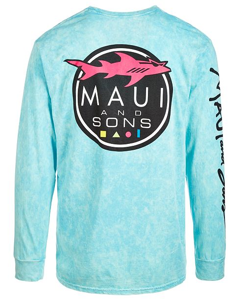 7cbe25dfde12fe Maui and Sons Men's Shark Logo Graphic T-Shirt & Reviews - T-Shirts ...