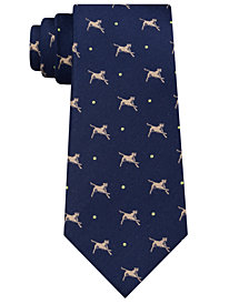 Club Room Men's Doggy Play Time Silk Tie, Created for Macy's