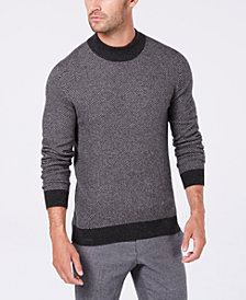 Tasso Elba Men's Cashmere Herringbone Sweater, Created for Macy's