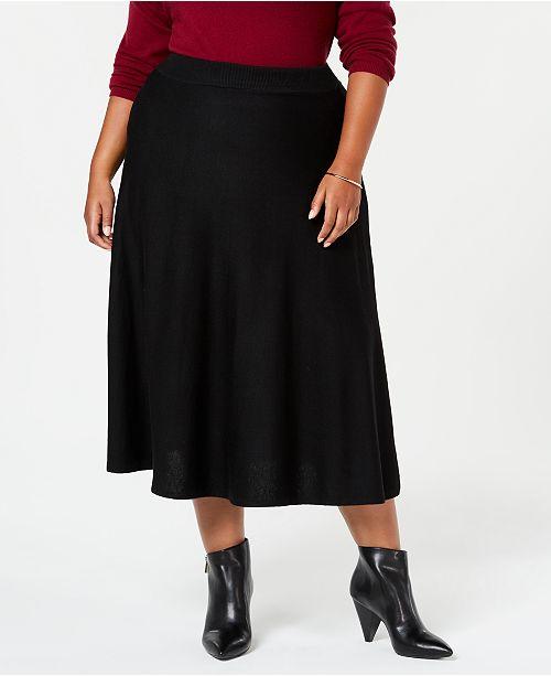 Joseph A Plus Size Pull-On Sweater Skirt