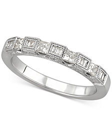 Diamond Princess Band (3/8 ct. t.w.) in 14k White Gold