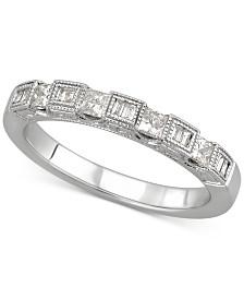 Diamond Princess Band (3/8 ct. t.w.) in 14k White Gold