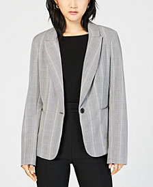BCX Juniors' Glen-Plaid Blazer