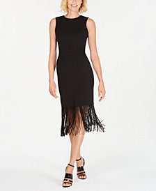 Calvin Klein Fringe Sheath Dress