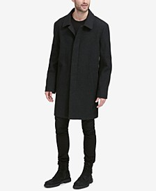 Men's Classic Tumbled Coat with Hidden Placket