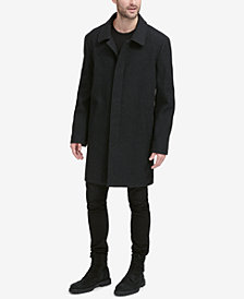 Cole Haan Men's Classic Tumbled Coat with Hidden Placket