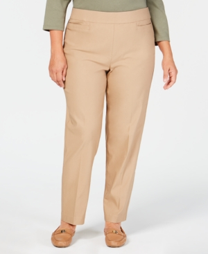 Image of Alfred Dunner Plus Size Classic Allure Tummy Control Pull-On Pants