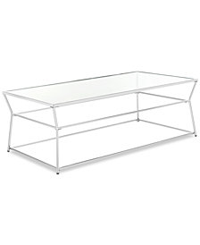 Ellie Glass Coffee Table, Quick Ship