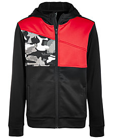 Ideology Big Boy Colorblocked Zip-Up Hoodie, Created for Macy's