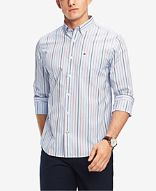 Tommy Hilfiger Men's Classic Fit Ross Striped Shirt, Created for Macy's