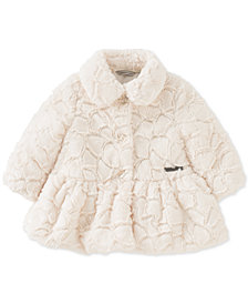 Calvin Klein Baby Girls Crackled Faux-Fur Coat