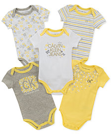 Calvin Klein Baby Girls 5-Pack Printed Bodysuits