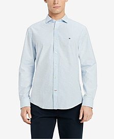 Tommy Hilfiger Men's Classic Fit Dash Print Dobby Shirt, Created for Macy's