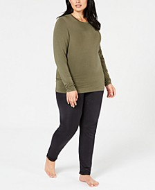 Plus Size Softwear Crew-Neck Top & Leggings