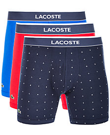 Lacoste Men's 3-Pk. Colours Stretch Boxer Briefs