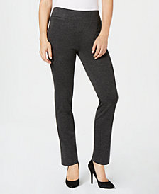Kasper Ponté-Knit Pull-On Pants
