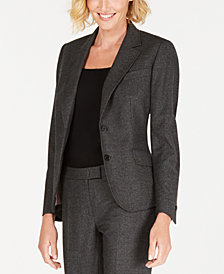 Anne Klein Micro-Check Two-Button Jacket, Created for Macy's