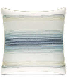 "Tommy Bahama Home La Prisma Stripe Cotton Medium Blue 16"" Square Decorative Pillow"