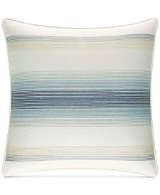 "Tommy Bahama Home La Prisma Stripe Cotton Medium Blue 16"" Square Decorative Pillow"