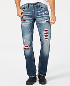True Religion Men's Straight-Fit Stretch Destroyed Jeans