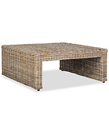 Persis Wicker Coffee Table, Quick Ship