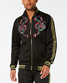 Reason Men's Serpent Embroidered Track Jacket