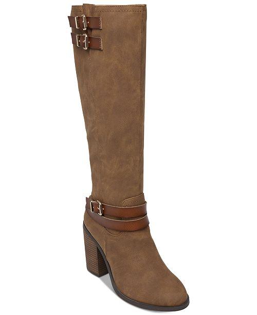 9a19aa63562 Madden Girl Edrea Block-Heel Boots   Reviews - Boots - Shoes - Macy s