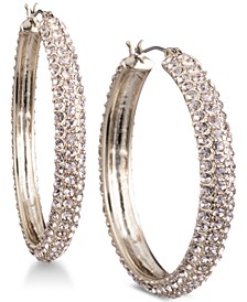 "Micro-Pavé 1 2/3"" Hoop Earrings, Created for Macy's"