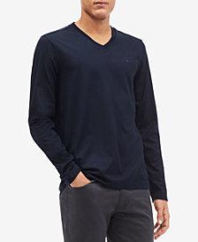 Calvin Klein Men's Long-Sleeve V-Neck Shirt