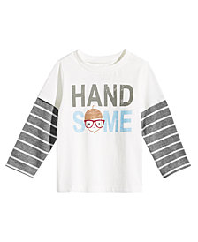 First Impressions Baby Boys Handsome-Print Layered-Look Cotton T-Shirt, Created for Macy's