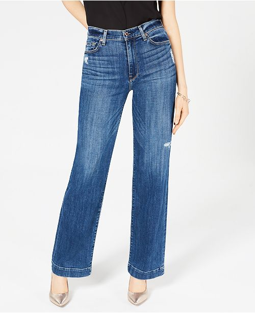 9a84ecdc2a319 7 For All Mankind Alexa High-Rise Wide-Leg Jeans   Reviews ...