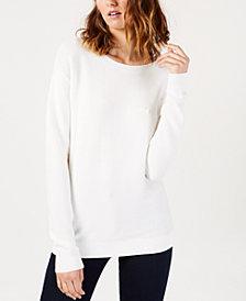 Lacoste Cotton Boat-Neck Sweater