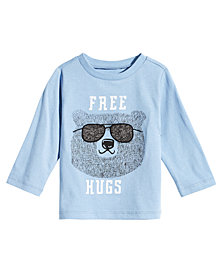 First Impressions Baby Boys Hug-Print Cotton T-Shirt, Created for Macy's