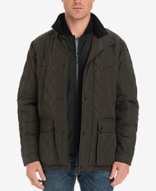 London Fog Men's Arietta Diamond Quilted Field Coat