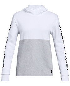 Under Armour Big Girls Double-Knit Logo Hoodie