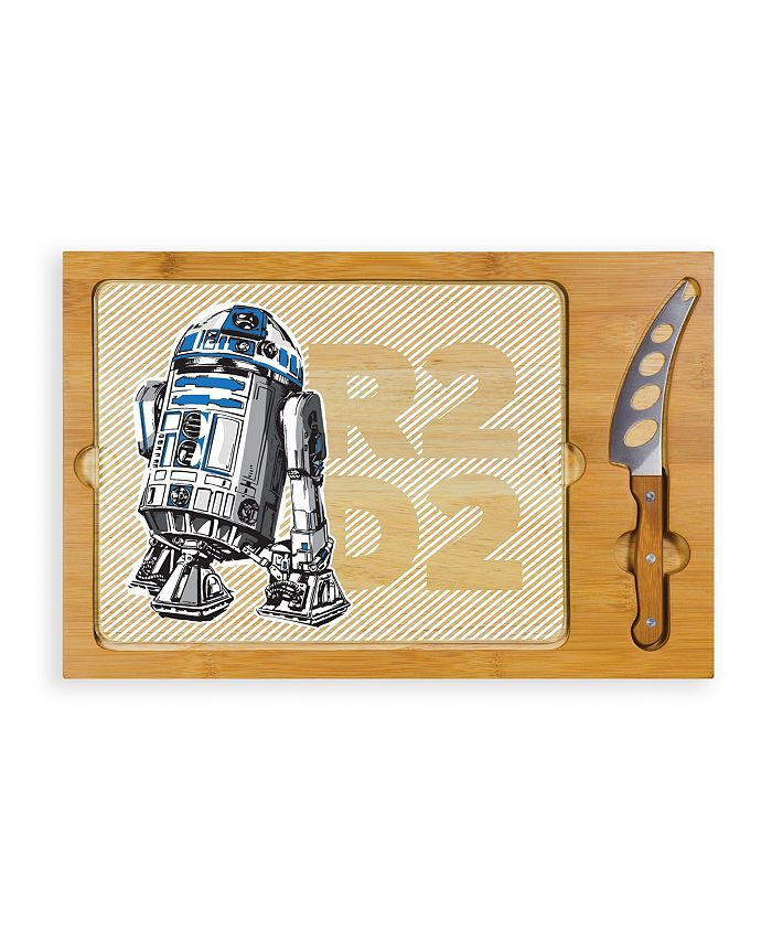 Picnic Time - Star Wars R2D2 Icon Glass Top Cutting Board & Knife Set