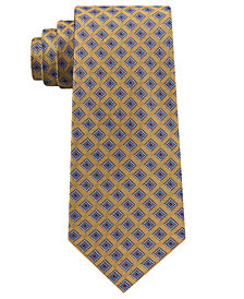 Club Room Men's Diamond Dot Neat Silk Tie, Created for Macy's