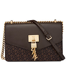 DKNY Elissa Signature Shoulder Bag, Created for Macy's