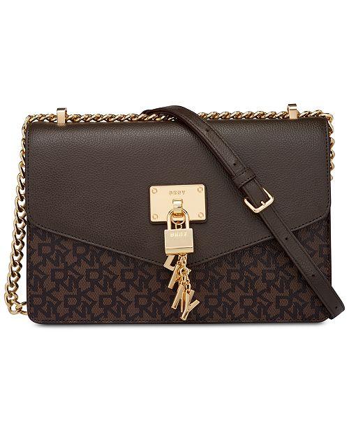 DKNY Elissa Signature Shoulder Bag, Created for Macy's