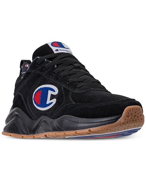 86247e4f2c7 ... Champion Men s 93Eighteen Suede Chenille Athletic Training Sneakers  from Finish ...