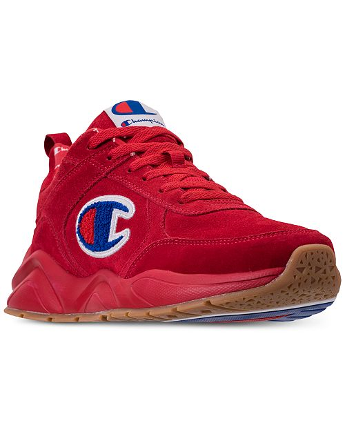 4aa851c84 ... Champion Men s 93Eighteen Suede Chenille Athletic Training Sneakers  from Finish ...